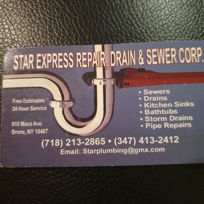 Avatar for Star Express Repair Drain&Sewer Corp Bronx, NY Thumbtack