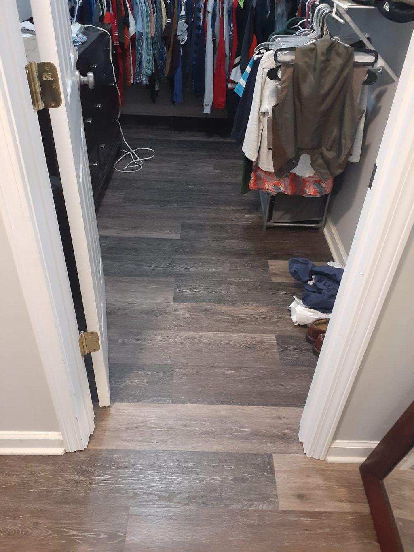Engeenier vinyl plank  Color black canyon  Raleigh NC