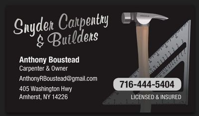 Avatar for Snyder Carpentry & Builders Buffalo, NY Thumbtack