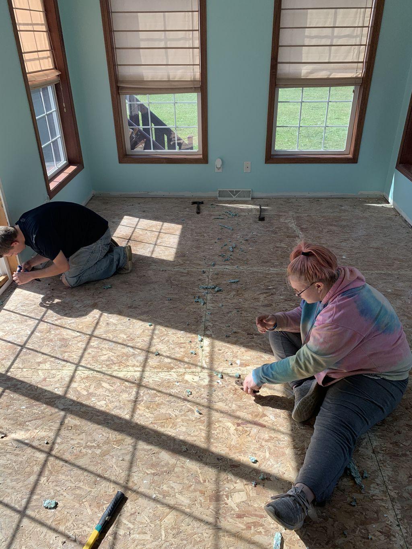 Sunroom Tile Installation