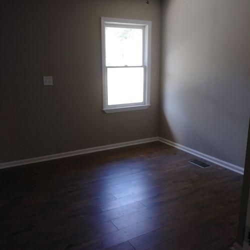 bedroom renovation after demo