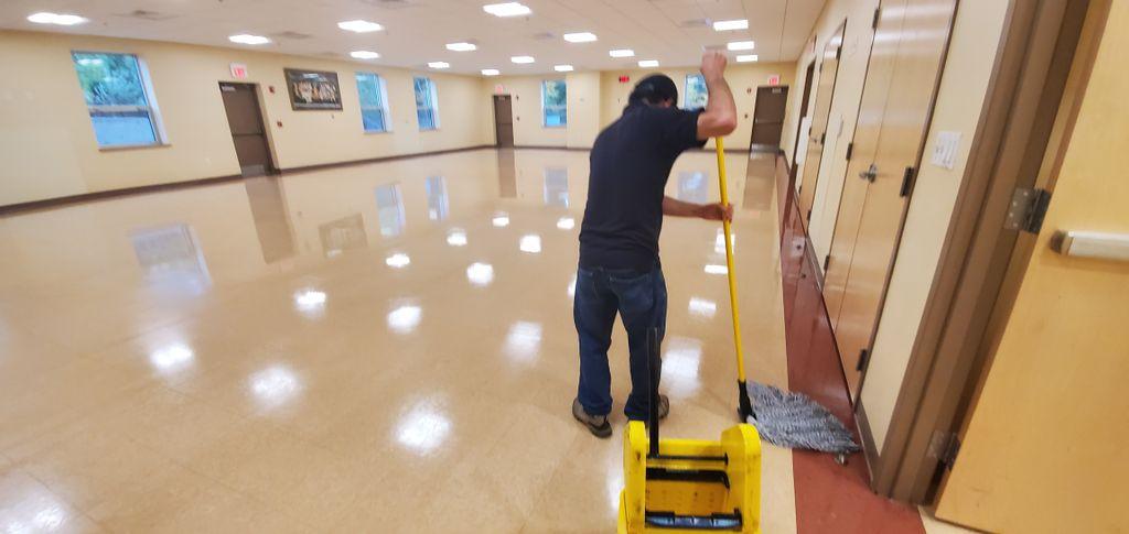 Church VCT Tile Floors