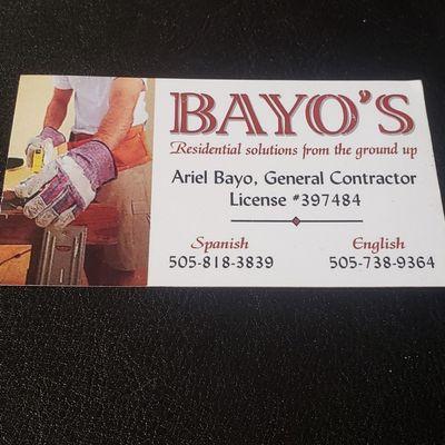 Avatar for Bayo's General Contractor LLC Albuquerque, NM Thumbtack