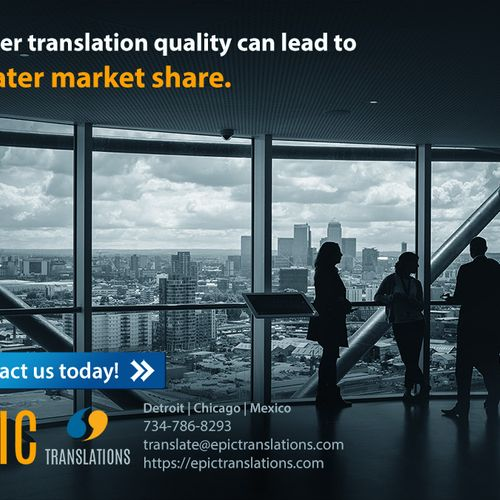We deliver excellent translation quality