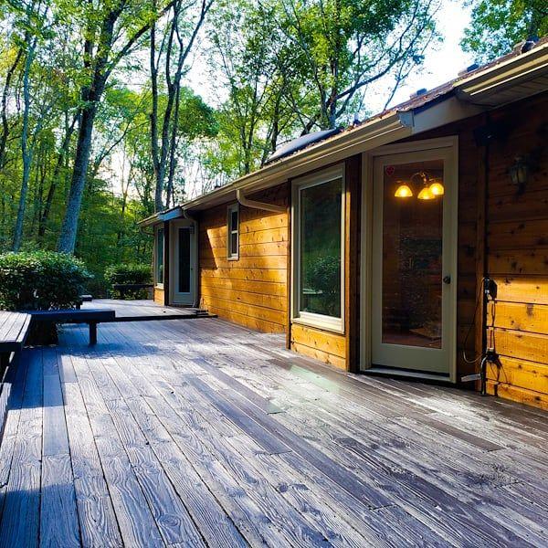Cedar Restoration and deck staining