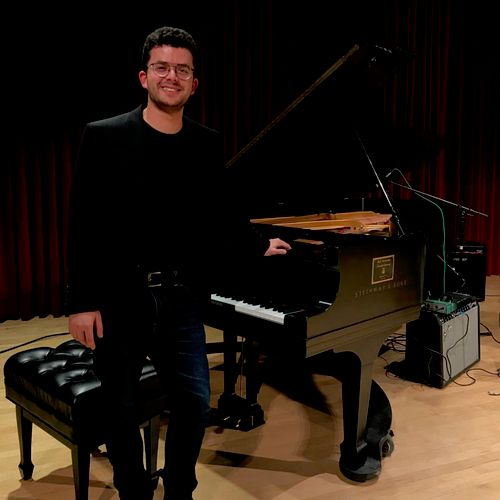 Prior to my senior recital at the University of Washington in 2018.