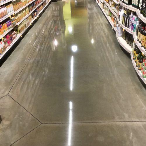 After Concrete floors