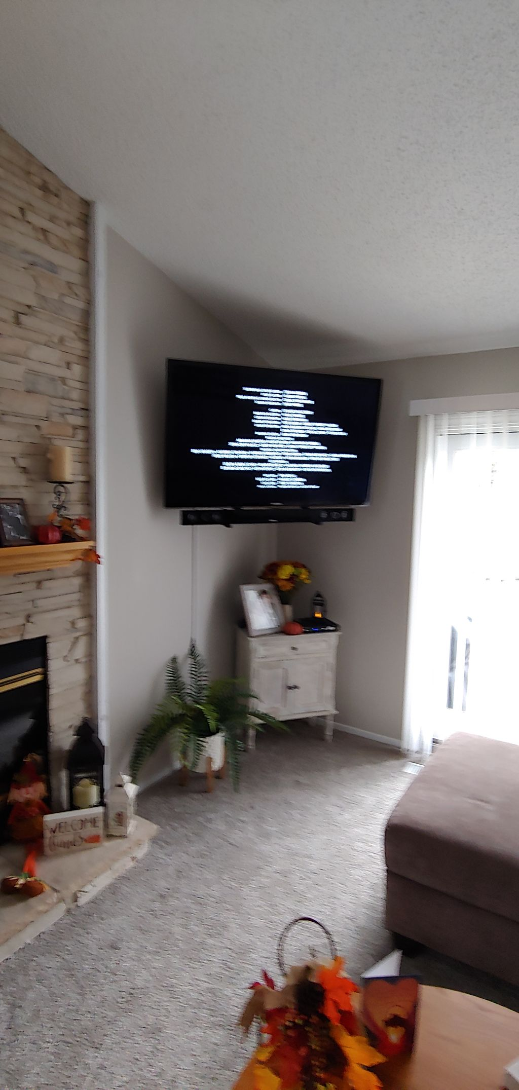 Tv mountings Over the wall wire channel