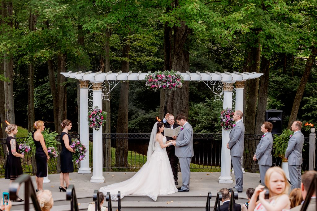 Will and Stacy's outdoor wedding