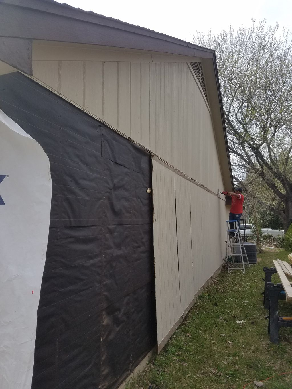New siding and new paint