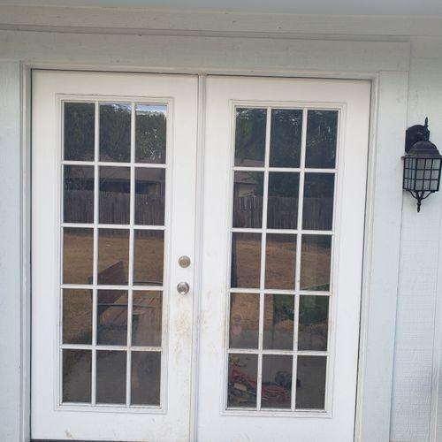 After: New full reframe to align door.