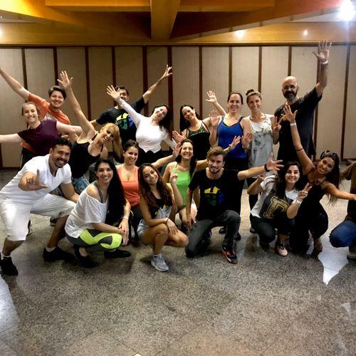 Lambazouk workshop we taught in Brazil
