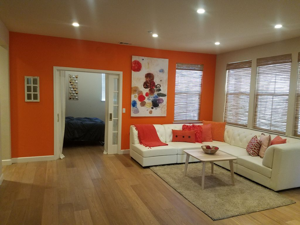 Interior painting to match paint with furniture Airbnb home
