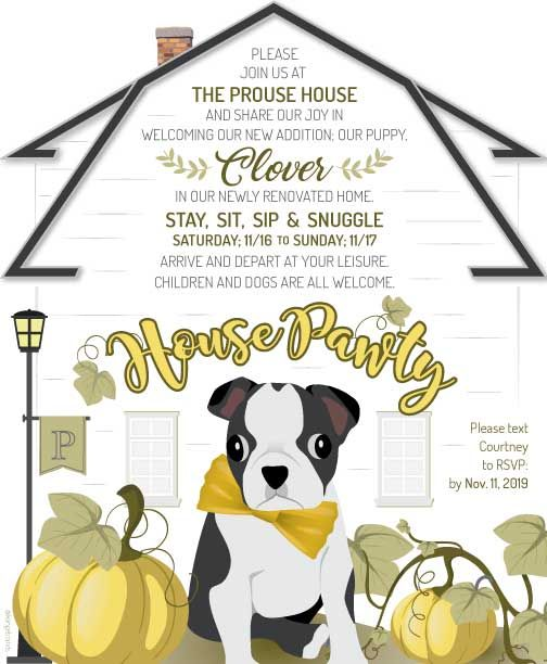 House Pawty Invite