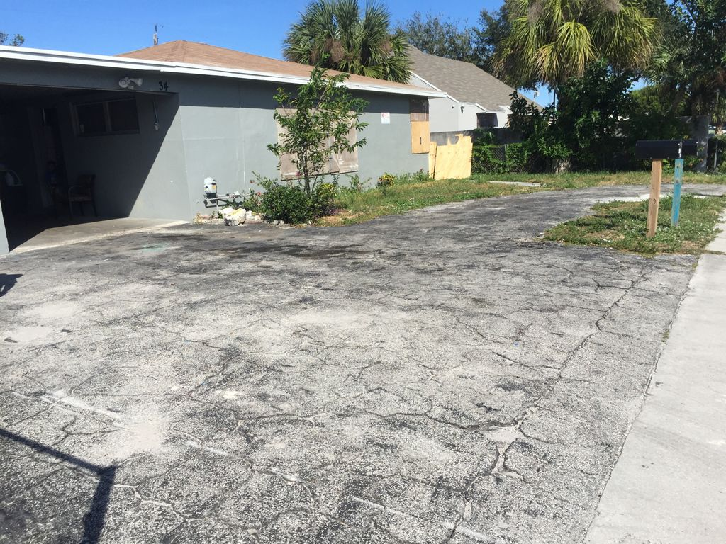 Asphalt overlay Before and after