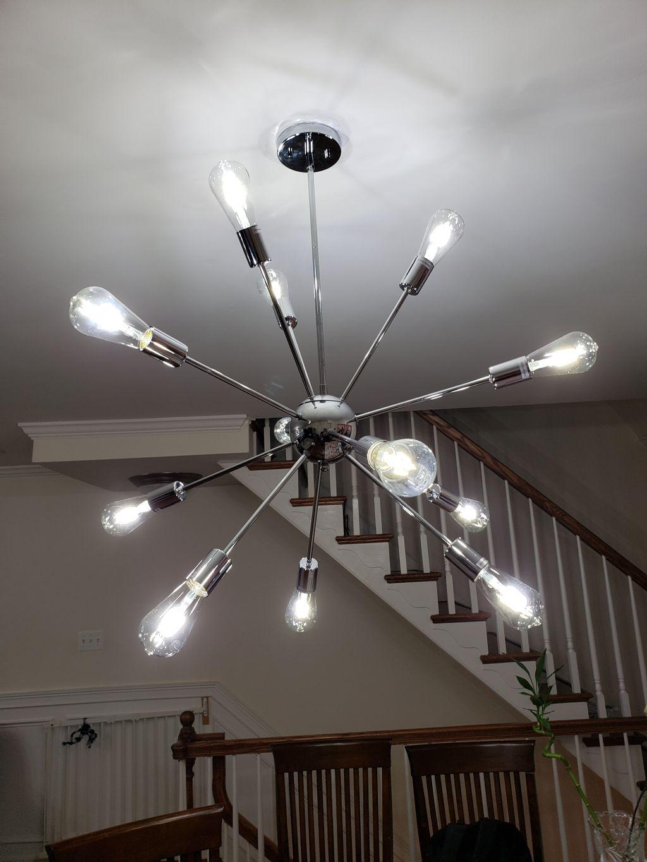 Replacing chandeliers