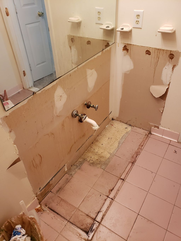 Replacing vanity by a granite top sink and new vanity