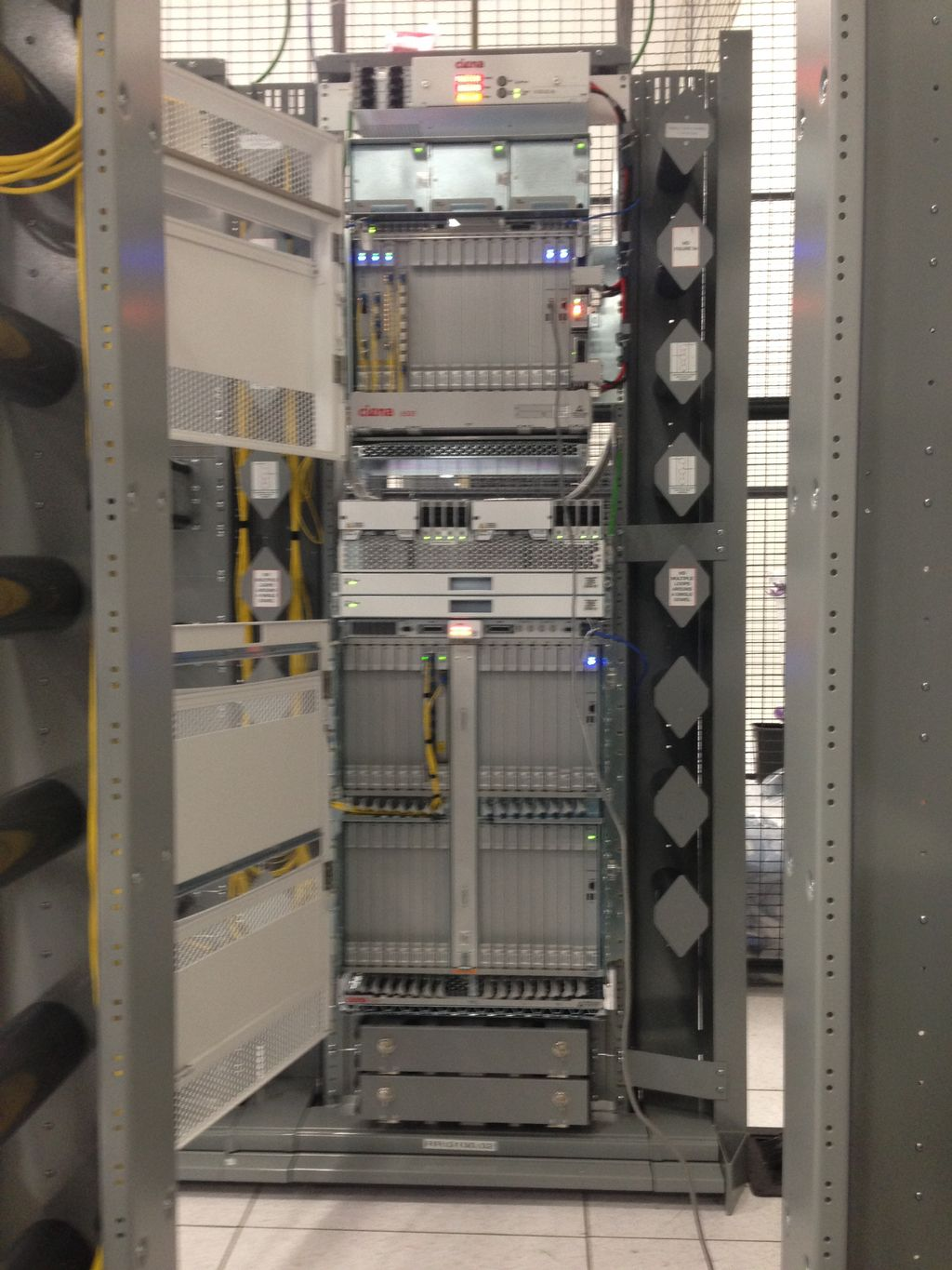 Installation of 2 Ciena 6500 Network Platforms