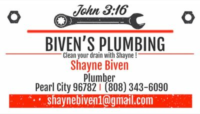 Avatar for Biven's Handyman&Plumbing Services Pearl City, HI Thumbtack