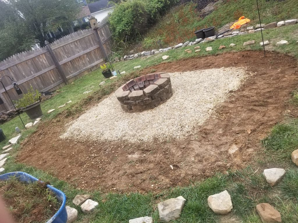 Fire pit remodel and expansion