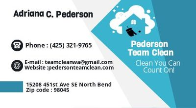 Avatar for PedersonteamcleanLLC North Bend, WA Thumbtack