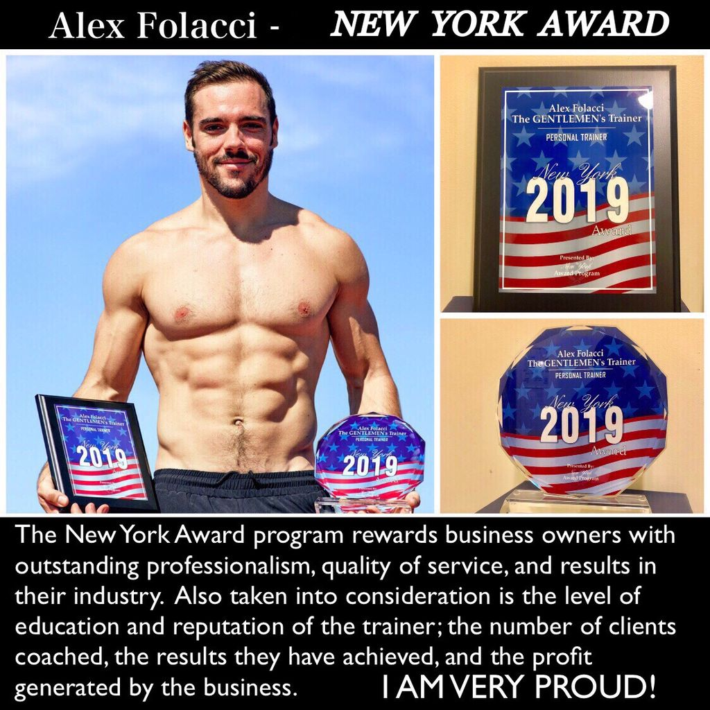 Received the New York Award 2019 for Personal Training