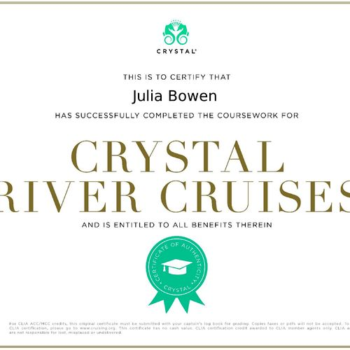 Crystal Cruises offers pure luxury and near perfection.