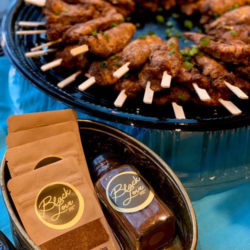 Our Black Love Seasoning Jerked Chicken Satay (gluten-free)