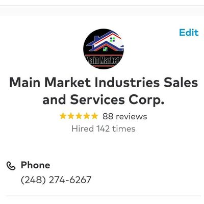 Avatar for Main Market  Industries Sales and Services Corp. Fort Lauderdale, FL Thumbtack
