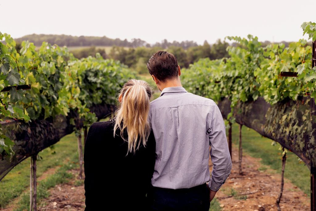 Surprise Engagement Shoot at Arrington Vineyards