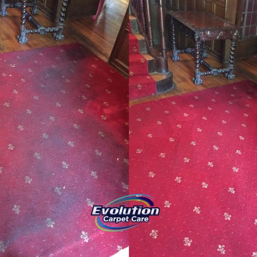 Carpet cleaning before and after. Customer was very satisfied!