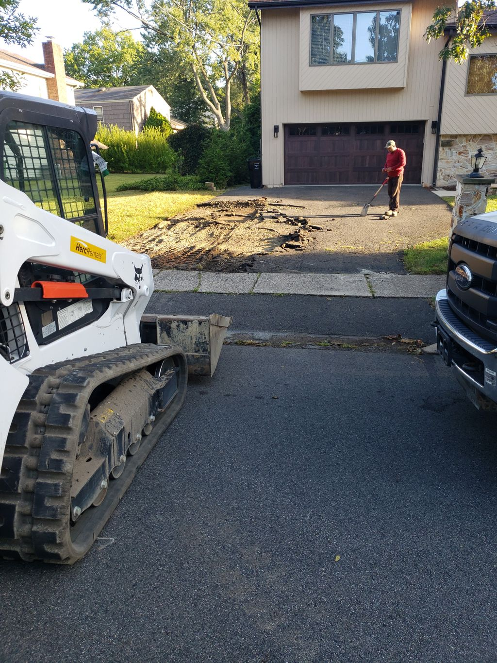 Replacing old driveway and rebuilding a stoop