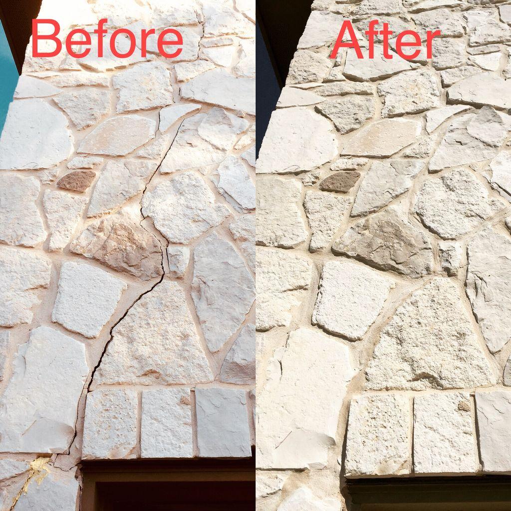 Cracks on mortar