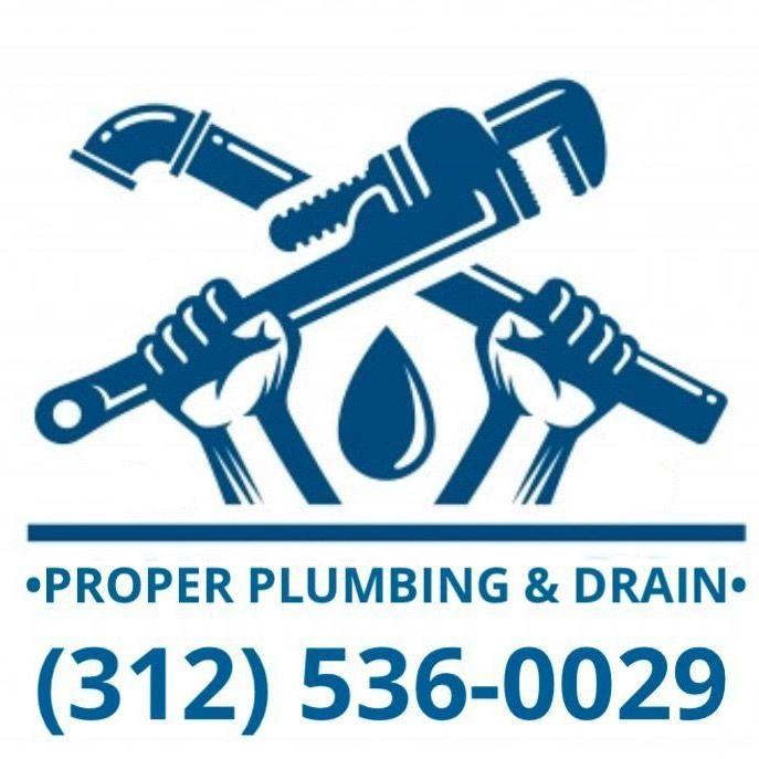 Proper plumbing and drain
