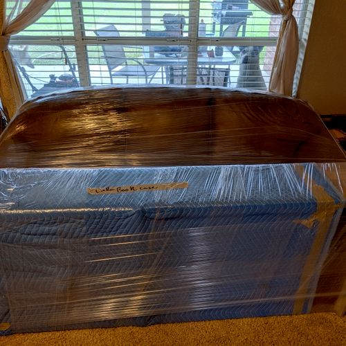 Padding and shrink wrap for transport