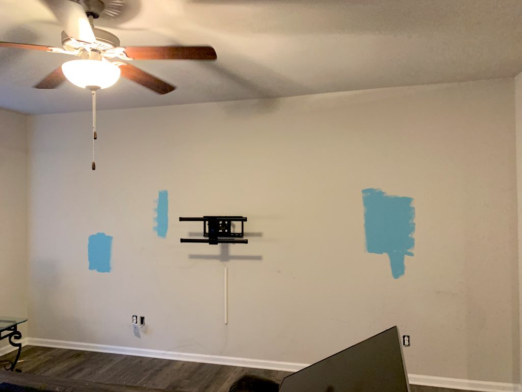 Den - Accent wall
