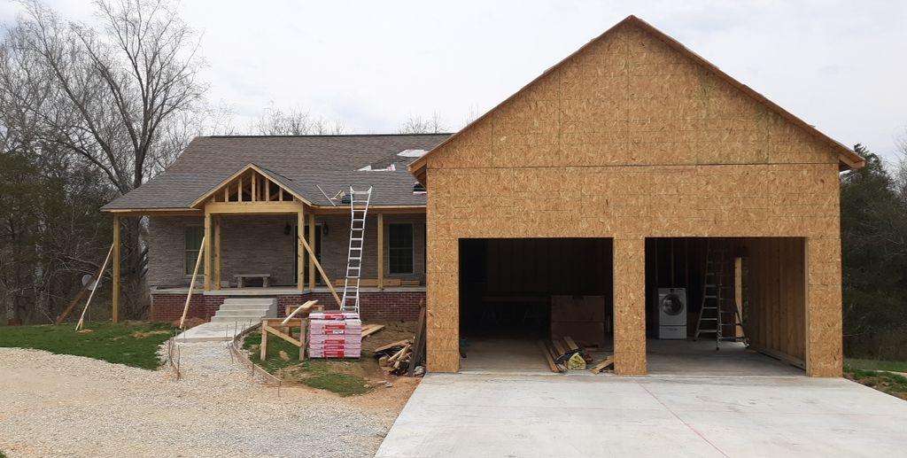 Garage and porch addition