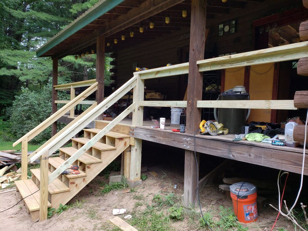 Porch Stair Replacement and Railing Installation