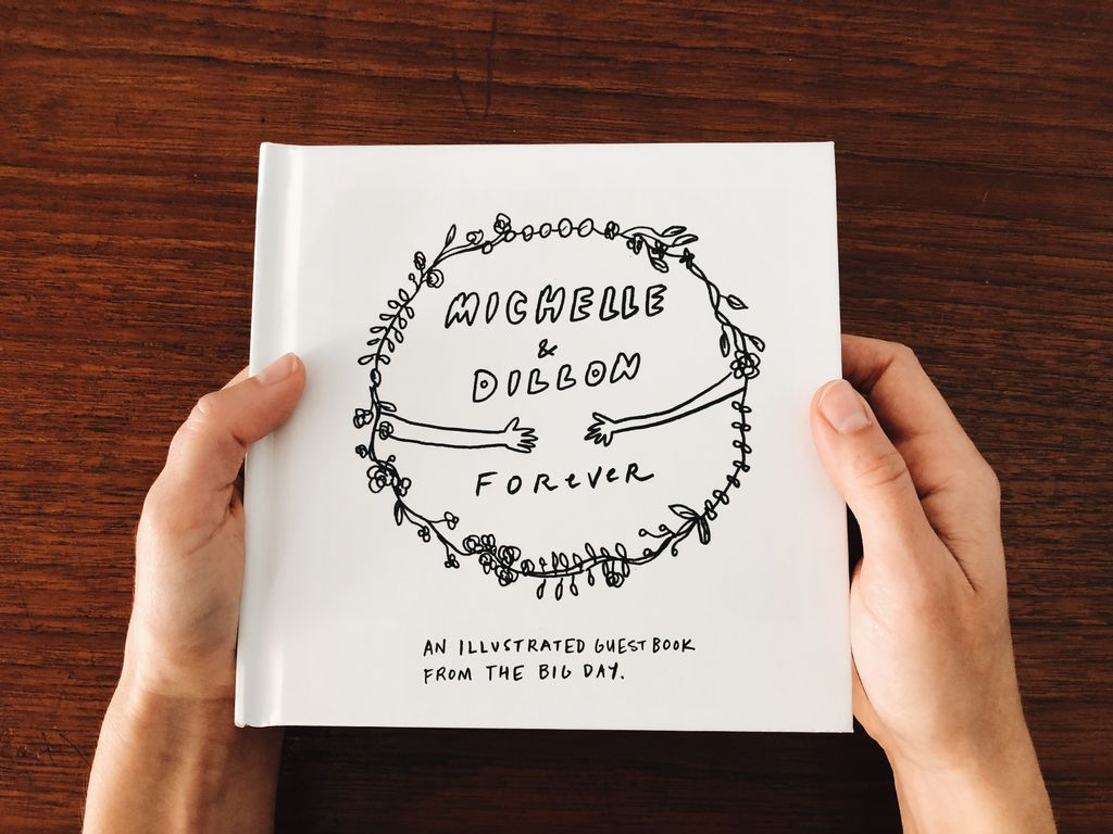 Illustrated Wedding Guestbook