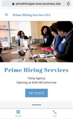 Avatar for Prime Hiring Service LLC College Park, MD Thumbtack