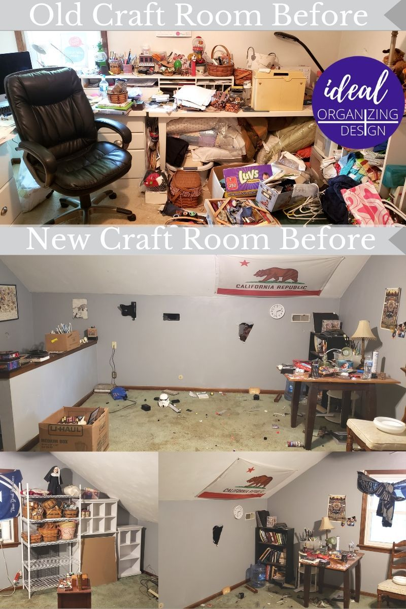 Craft Room Move & Organization
