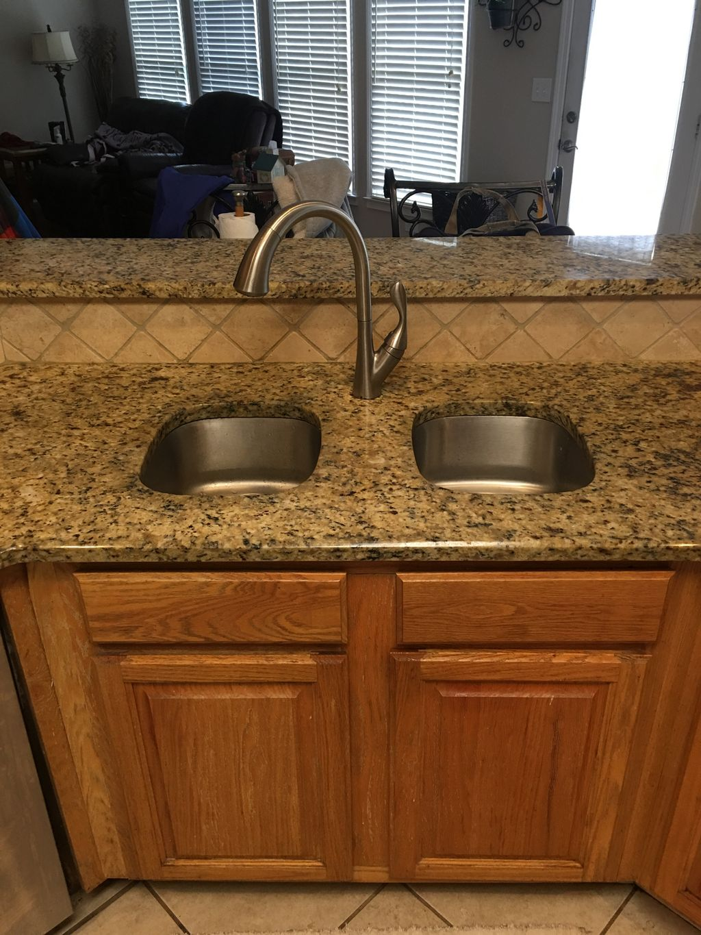 Granite under mount sinks converted to apron front sink