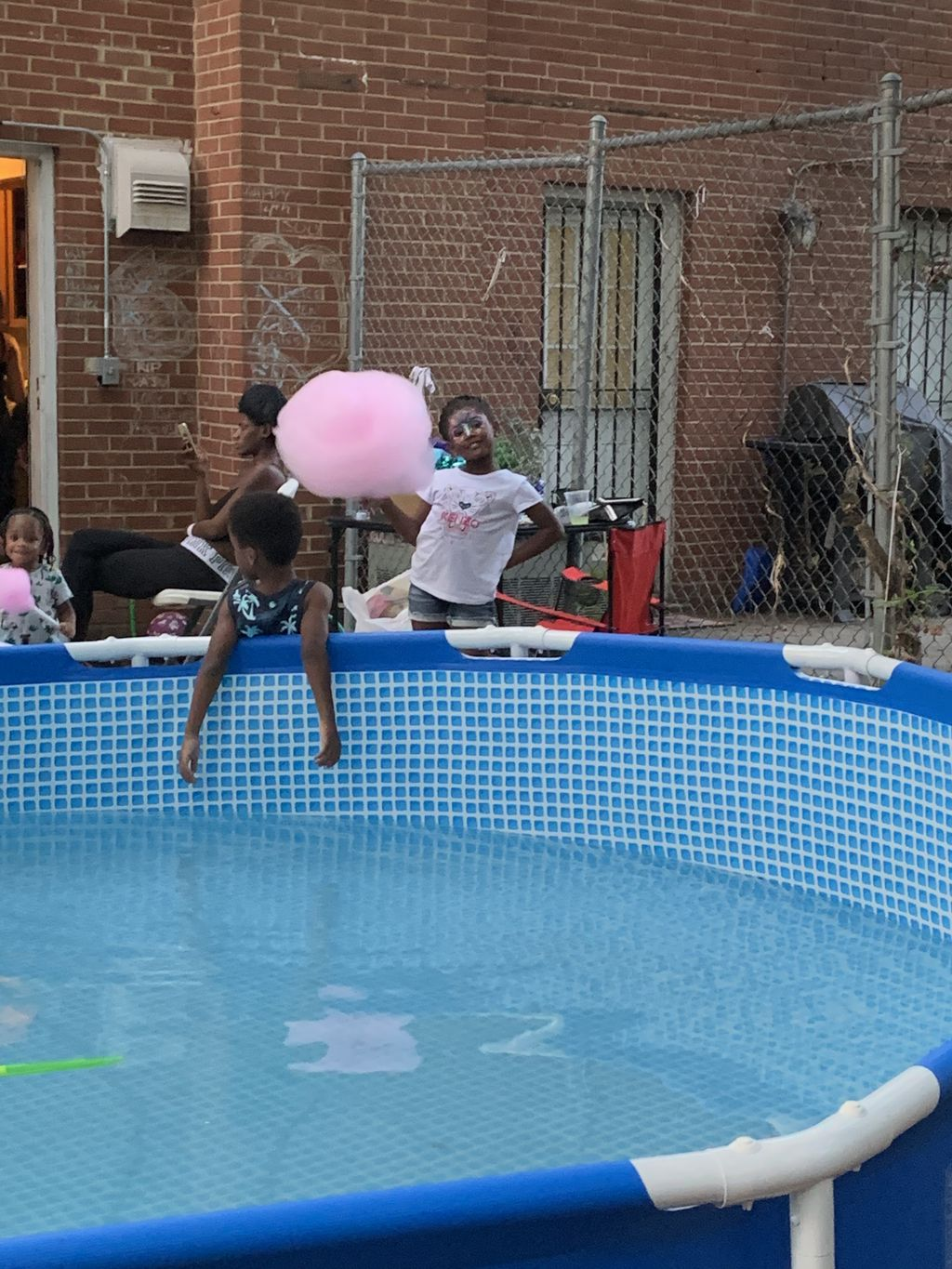 Cotton candy in birthday party