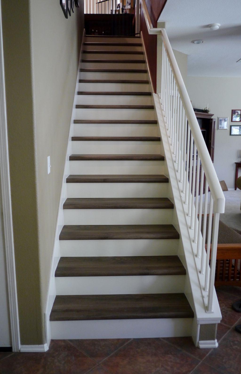 Stairs, Hallway and Bathroom LVP