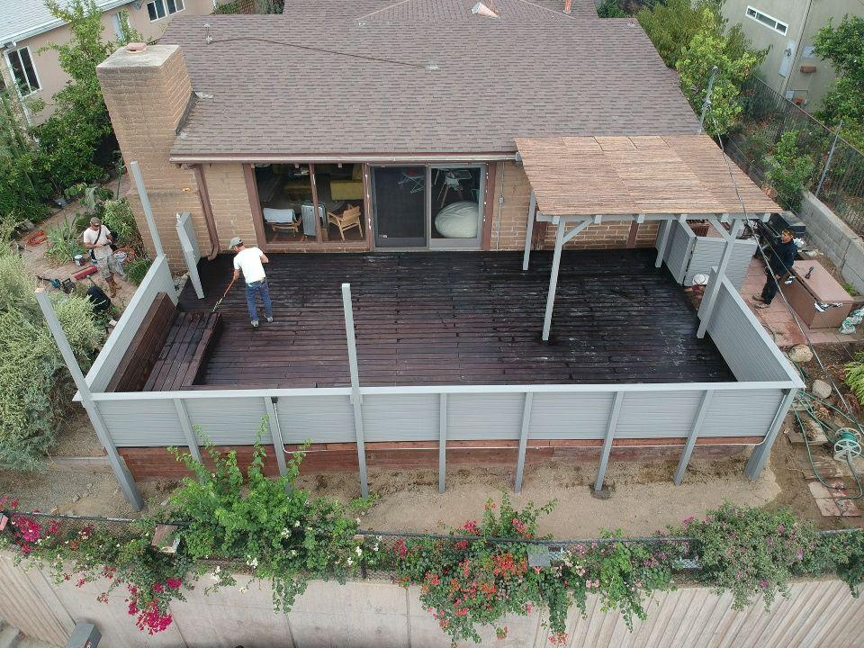 500 sqft moso bamboo deck -pergola and railing