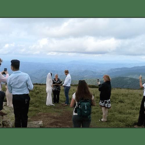 Wedding on the Bald Roan Mountain