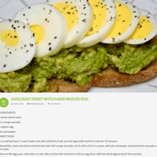 Avocado Toast w/ Hard Boiled Egg