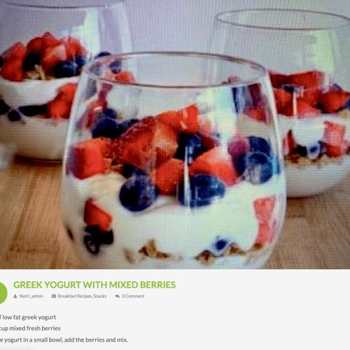 Greek Yogurt w/ Mixed Berries