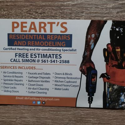Avatar for Peart's Residential Repairs