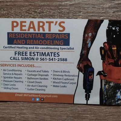 Avatar for Peart's Residential Repairs West Palm Beach, FL Thumbtack